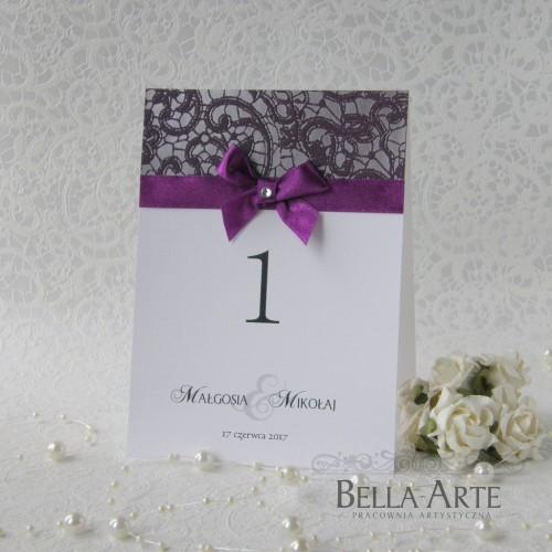 Numery stołów weselnych Fiorella