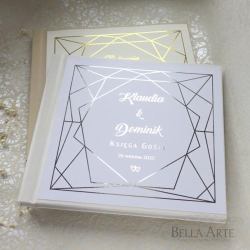 Geometryczna Złocona Księga Gości Glamour