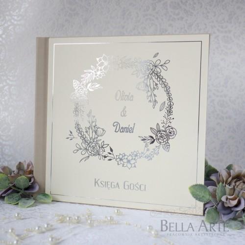 Złocona Księga Gości wpisów weselnych