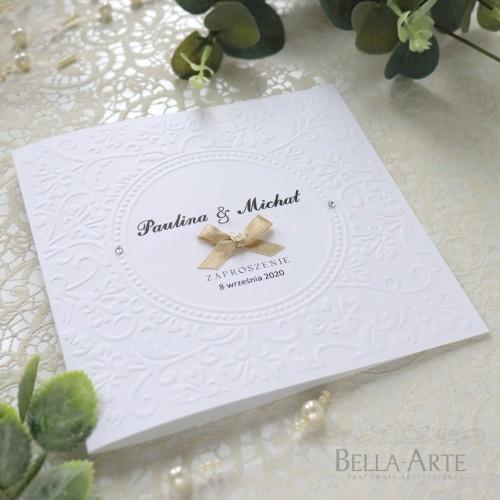 Eleganckie i proste Zawiadomienia na ślub z tłoczeniem