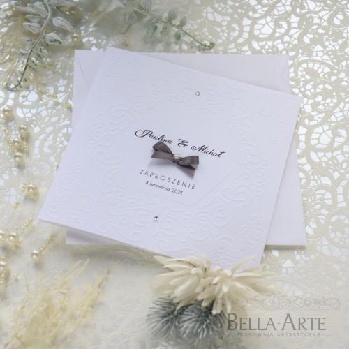 Eleganckie i proste Zaproszenia na ślub z tłoczeniem