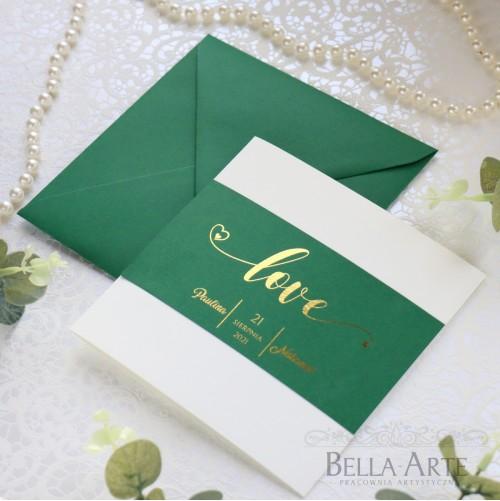 Zaproszenia ślubne LOVE