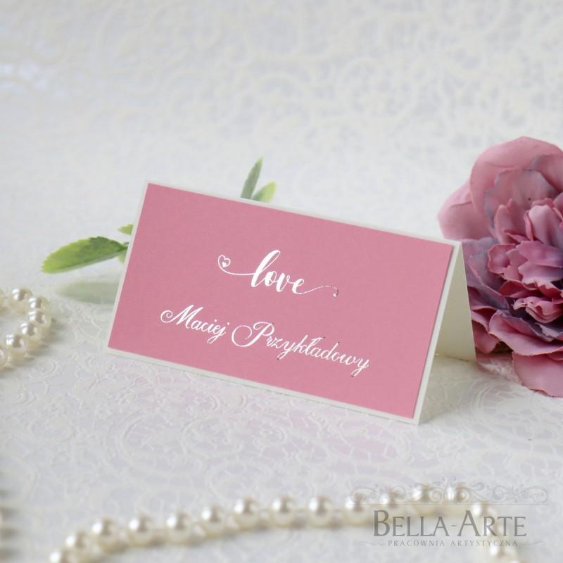 Love winietki na stół Glamour