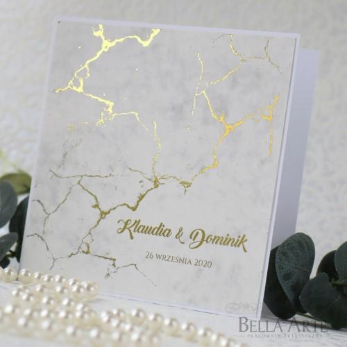 Zaproszenia ślubne Marmur
