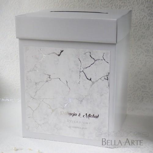 Pudełko na koperty Marmur