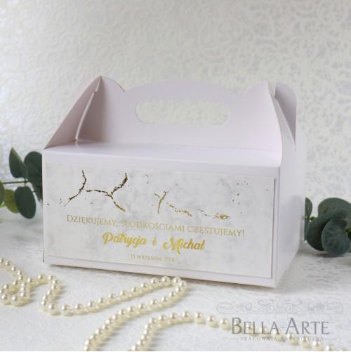 Pudełko na ciasto Marmur
