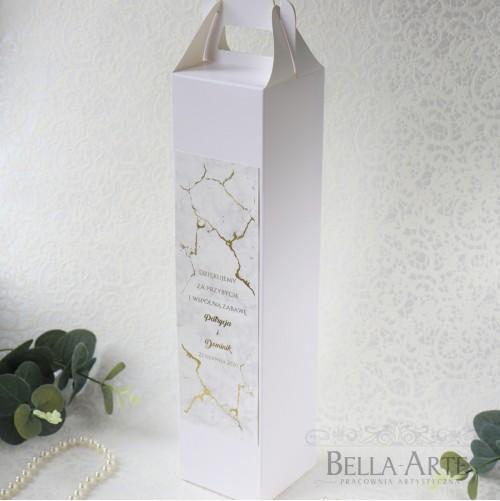 Pudełko na alkohol Marmur