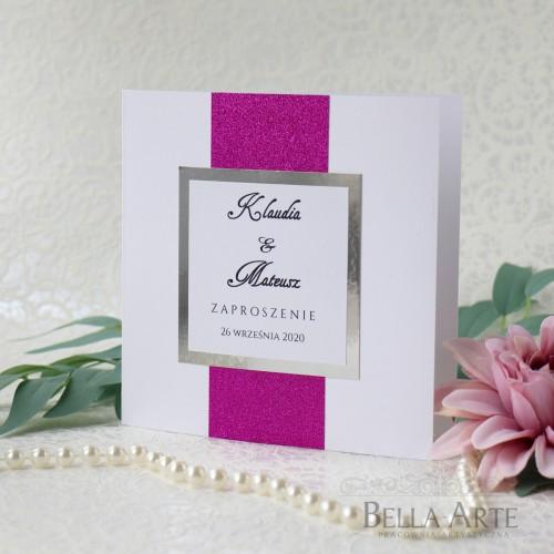 Brokatowe zaproszenia ślubne Mirror