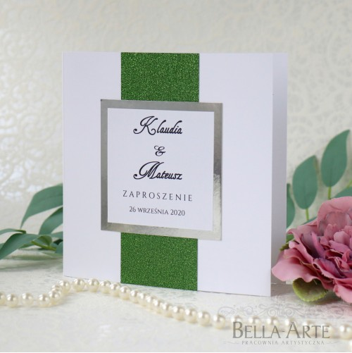 Brokatowe zaproszenia ślubne Glamour