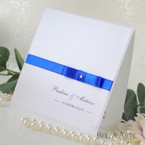Perłowe zaproszenia ślubne Elegante