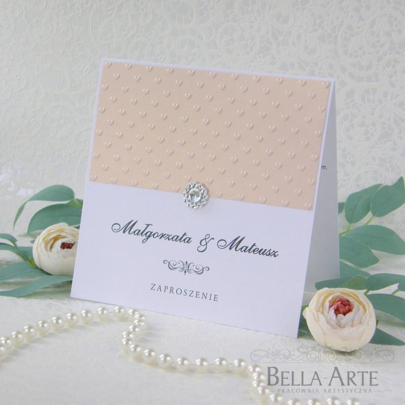 Zaproszenia ślubne Amelia wedding ślub z tłoczeniem