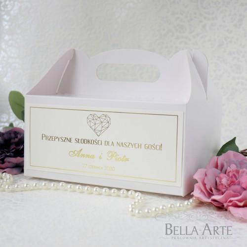 ZŁOCONE Pudełko na ciasto Glamour