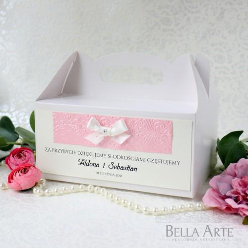Pudełko na ciasto Fiorella z tłoczeniem
