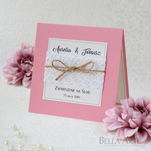 Zaproszenia ślubne Rustykalne Eko