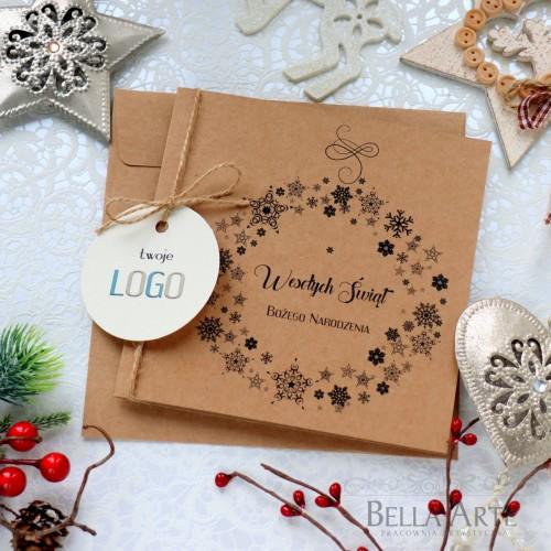 EKO kartki świąteczne dla firm biznesowe LOGO