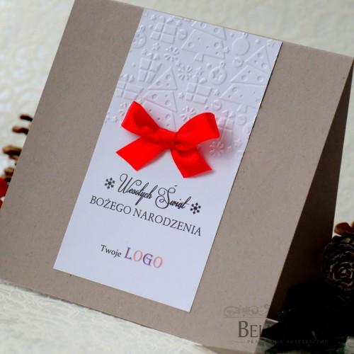 Kartki świąteczne firmowe Eko z logo