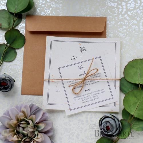 Zaproszenia jednokartkowe ekologiczne