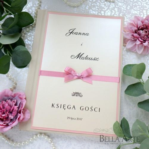 Elegancka księga gości wpisów weselnych