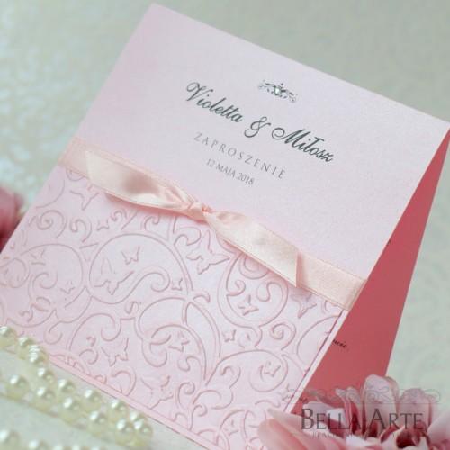Zaproszenia ślubne Amelia Perłowe