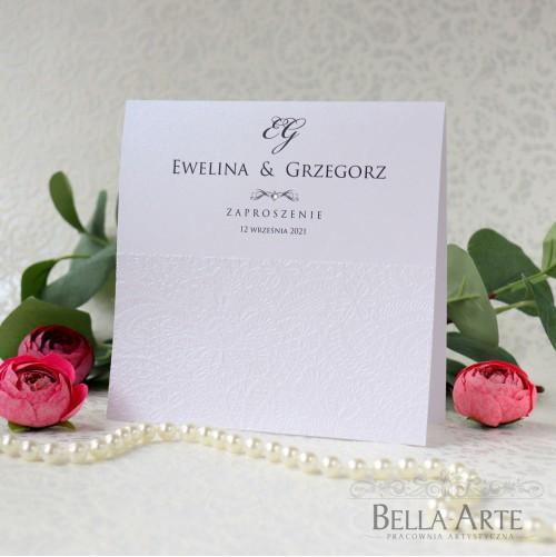 Zaproszenia ślubne perłowe Antonella