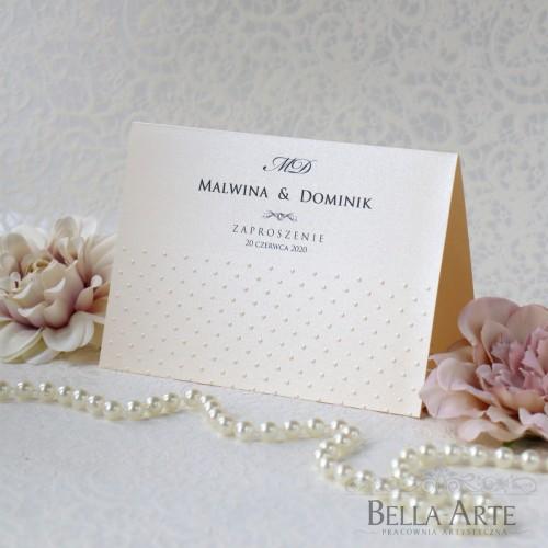 Zaproszenia ślubne Antonella Perłowe