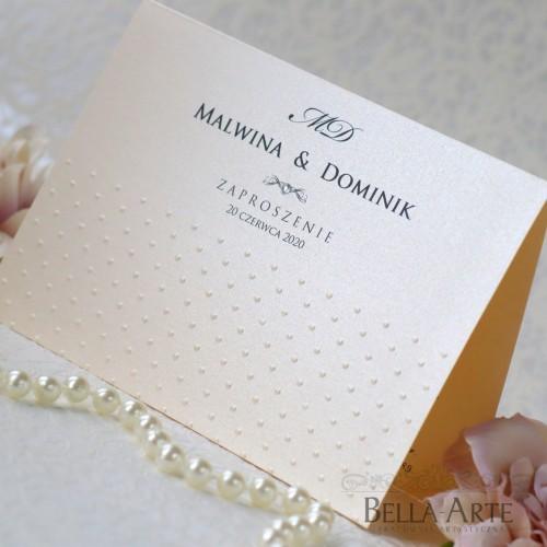 Zaproszenia perłowe Antonella