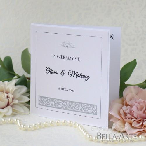 Zaproszenia ślubne Elegante z ornamentem