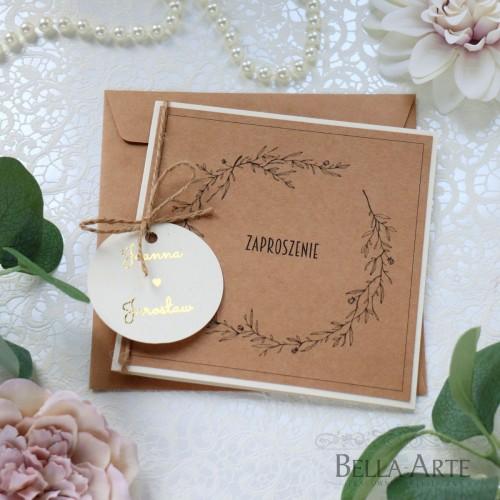 Zaproszenia ślubne EKO Rustykalne