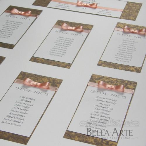 Plan stołów weselnych Verona