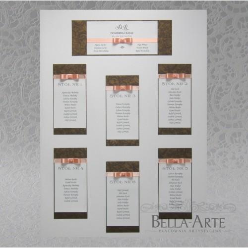 Plan stołów weselnych + Numery Verona