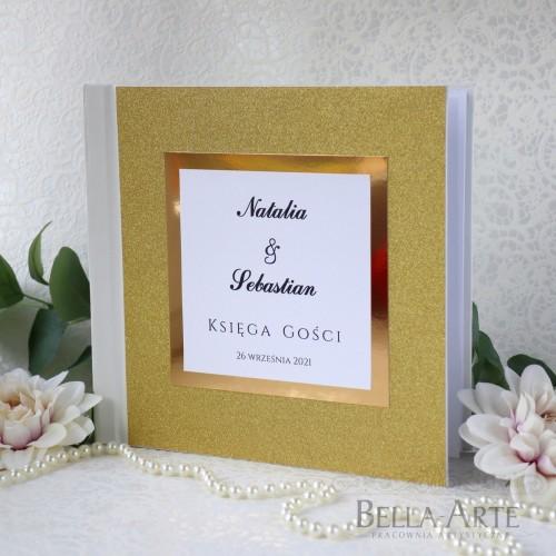 Brokatowa Księga Gości wpisów weselnych