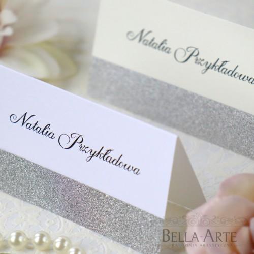 Winietki na stół z brokatem Glamour