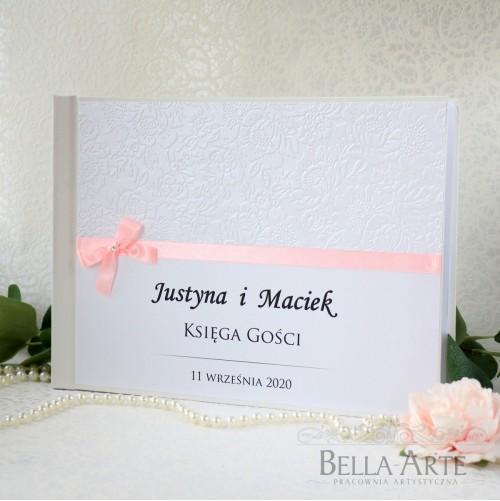 Księga gości weselnych z tłoczeniem