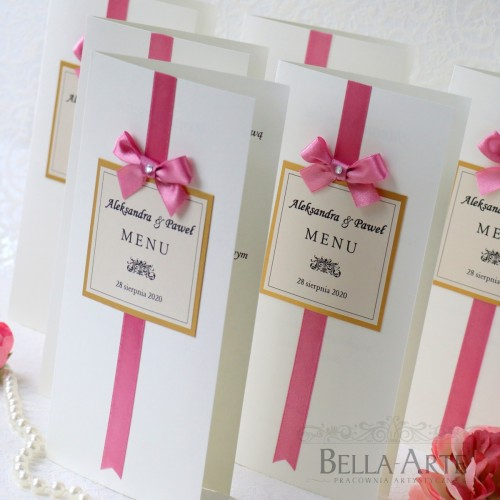 Eleganckie i klasyczne Menu weselne