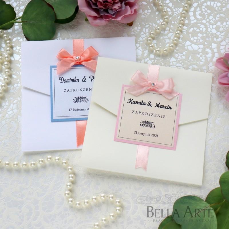 Eleganckie i Klasyczne Zaproszenia zawiadomienia ślubne