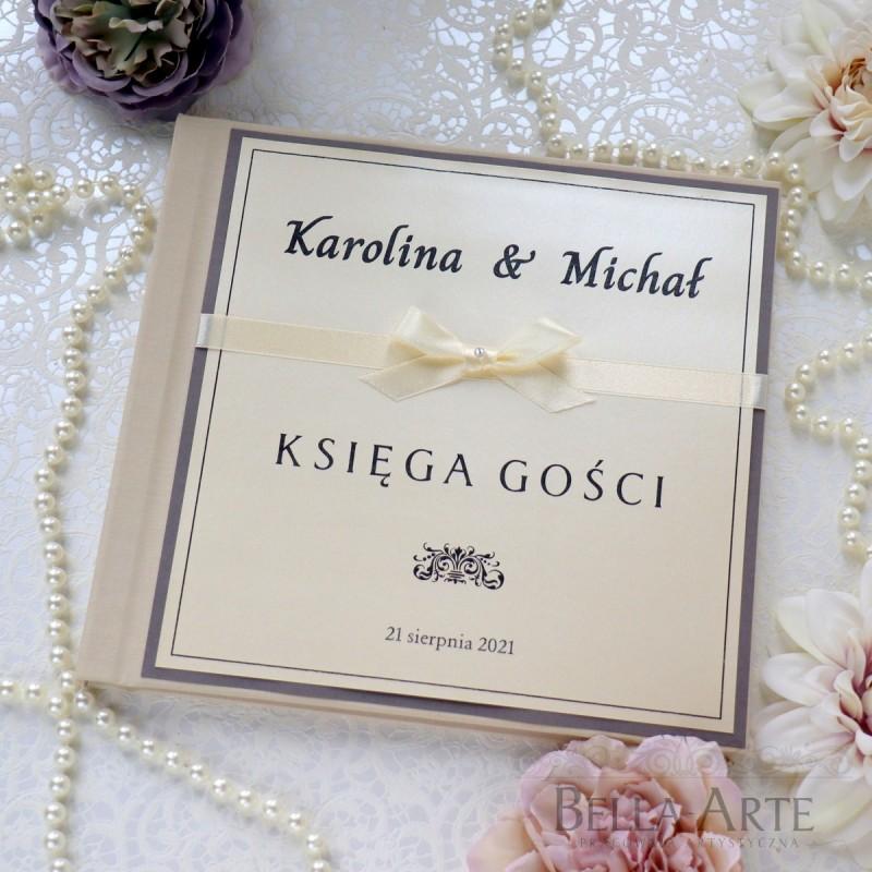 Elegancka księga gości weselnych
