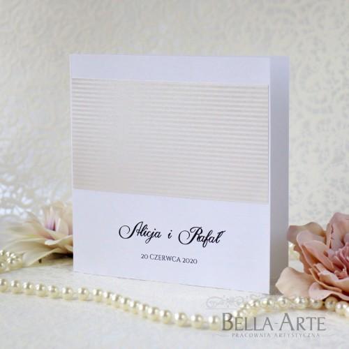 Zaproszenia ślubne Elegante Minimalistyczne
