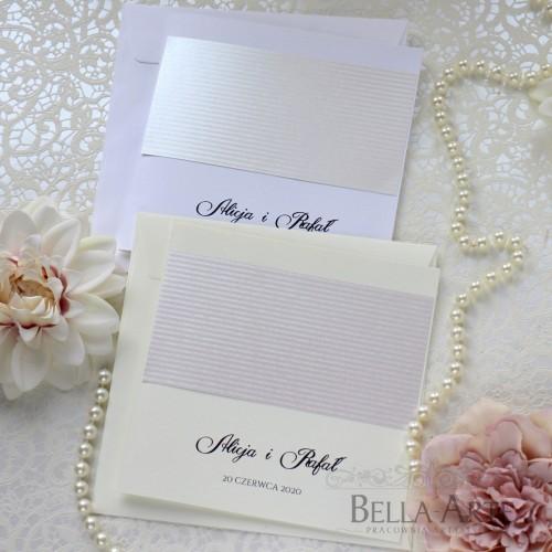 Minimalistyczne zaproszenia ślubne Elegante