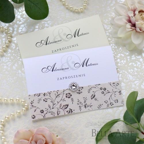 Zaproszenia ślubne delikatne kwiatki
