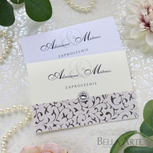 Zaproszenia ślubne delikatny wzór