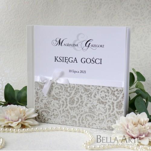 Księga gości weselnych z koronką