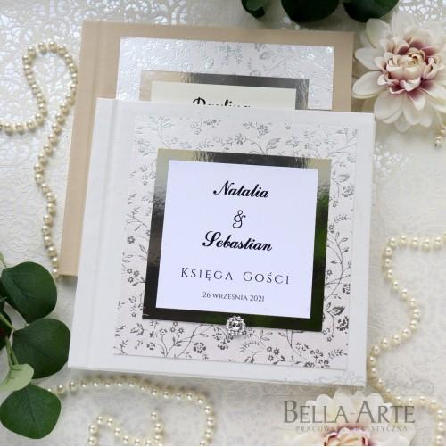 Księga Gości Glamour z kwiatkami