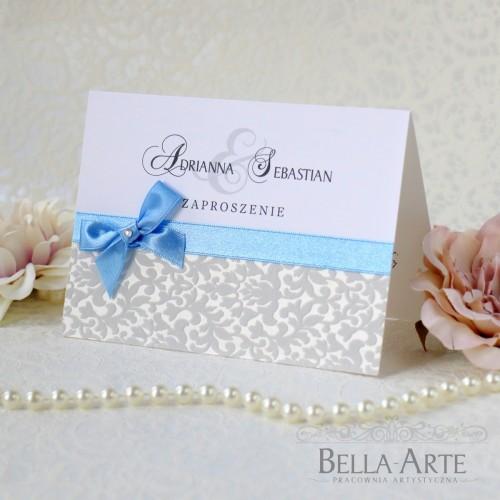 Zaproszenia ślubne z ornamentem