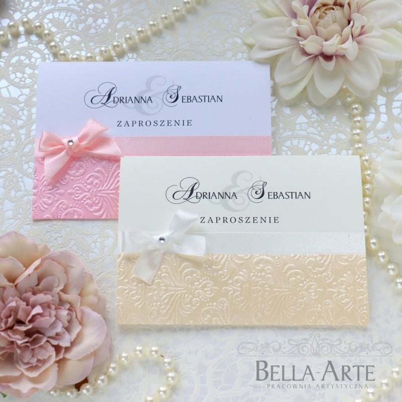 Zaproszenia ślubne z tłoczeniem ornament