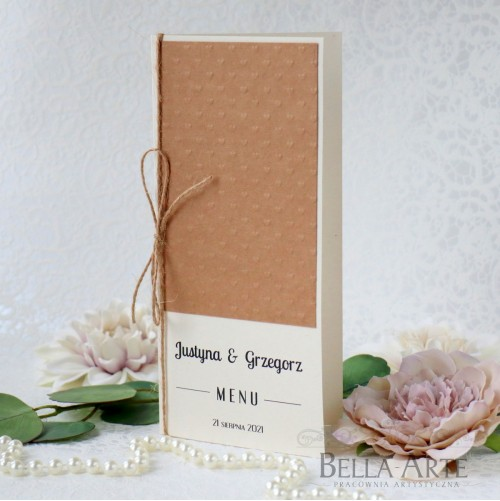 Rustykalne menu weselne ekologiczne EKO