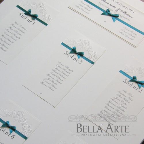 Plan stołów weselnych Torello