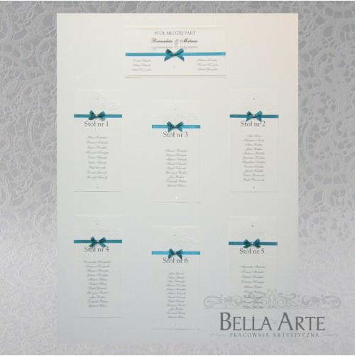 Plan stołów weselnych + Numery Torello