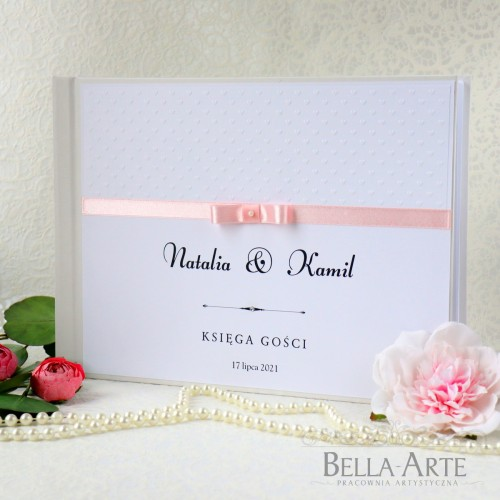 Księga gości weselnych Amelia biała