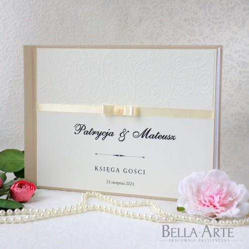Księga gości weselnych Amelia krem