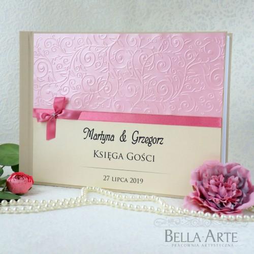 Księga gości weselnych z tłoczonym wzorem